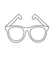 abstract old glasses vector image vector image