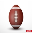 American Football ball isolated on a white vector image vector image