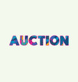 auction concept word art vector image