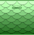 background with green gradient color paper cut vector image