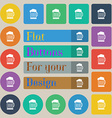 Beer glass icon sign Set of twenty colored flat vector image vector image