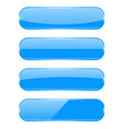 blue glass 3d buttons vector image vector image