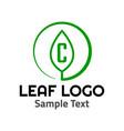 c leaf logo symbol icon sign vector image vector image