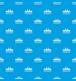 canoeing pattern seamless blue vector image vector image