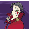cartoon of funny vampire vector image vector image