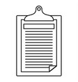 check paper tax icon outline style vector image vector image