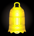 chinese golden bell artifact vector image vector image