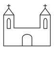 church line icon vector image vector image