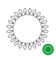 circle frame with leaves line style round laurel vector image