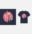 city dimensions t-shirt abstract geometric vector image vector image