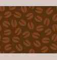coffee beans seamless pattern background vector image vector image