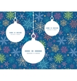 colorful doodle snowflakes Christmas ornaments vector image
