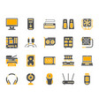 computer simple color flat icons set vector image