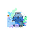 concept a huge school backpack and vector image vector image