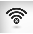 Creative WiFi Disconnect vector image