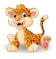 Cute baby leopard cartoon vector image