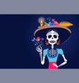dia de los muertos day dead mexican vector image vector image