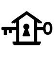 door key symbol vector image vector image