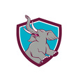 Elephant Prancing Crest Cartoon vector image vector image