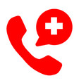 emergency call icon on white background medicine vector image vector image