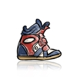 Female sneakers sketch for your design vector image vector image