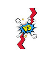 fight backgrounds comics style design vs versus vector image vector image