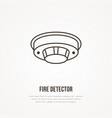fire detector sign firefighting safety equipment vector image vector image
