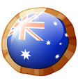 flag of australia on round badge vector image vector image