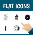 flat icon auto set of absorber crankshaft vector image vector image