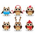 fun owls vector image vector image