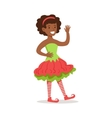 Girl With Afro Hairdo Dressed As Santa Claus vector image