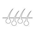 hair icon vector image