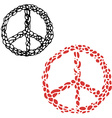 Hippie sign Peace sign vector image vector image
