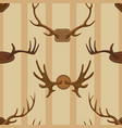 horn horned wild animal and deer or vector image vector image