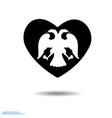 icon cardio with double-headed eagle design vector image vector image
