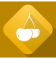 icon of Cherry with a long shadow vector image vector image