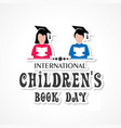 international childrens book day poster vector image vector image
