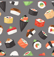 japanese food sushi sashimi roll or nigiri vector image vector image