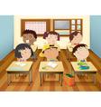 kids in classroom vector image vector image