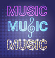 live music concert banner colorful style modern vector image