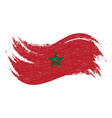national flag of morocco designed using brush vector image