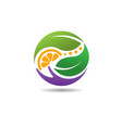 nature care circle logo vector image
