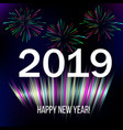 New year 2019 abstract background with colorful