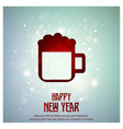 new year icons with typogrpahy vector image