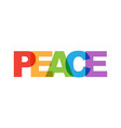 peace phrase overlap color no transparency vector image vector image