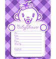 Purple Baby Girl Invitation vector image vector image