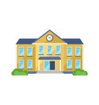 school building front yard for school children vector image