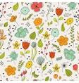 Seamless pattern vintage floral elements vector image vector image