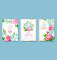 set cards mothers day vector image vector image