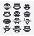 Set of vintage camping and outdoor activity logo vector image vector image
